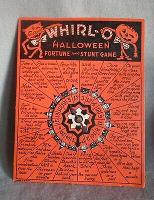 Vintage BEISTLE Co. Whirl-O HALLOWEEN Fortune & Stunt Game - VERY NICE Condition