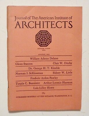 1953 Aug JOURNAL AMERICAN INSTITUTE of ARCHITECTS William