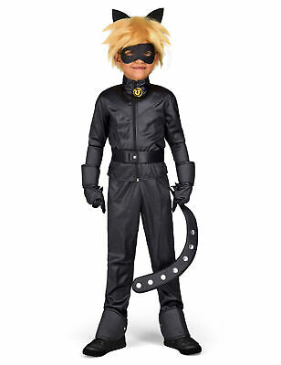 Offizielles Cat Noir-Kinderkostüm Miraculous-Lizenzkostüm schwarz Cod.309353
