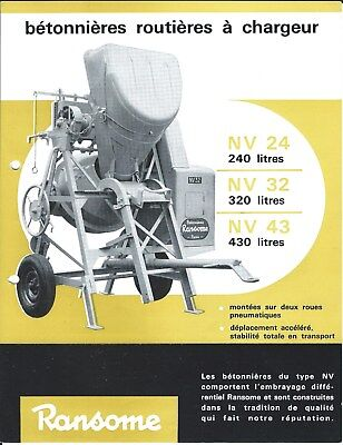 Equipment Brochure - Ransome - Nv 24 32 43 - Cement Mixer - French Lang E4470