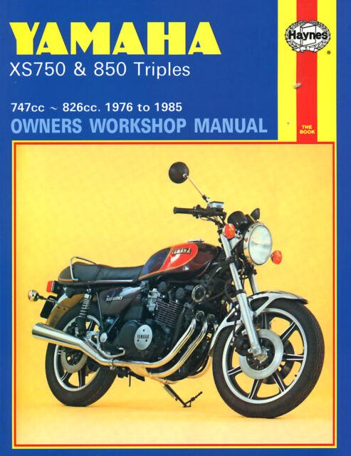 Haynes Manual 0340 - Yamaha XS750 & XS850 Triples (76 - 85) workshop/service