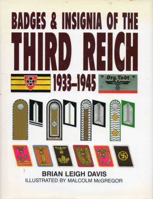 DAVIS BADGES & INSIGNIA OF THE THIRD REICH 1933-1945 LEOPARD FIRST ED HB DJ 1997