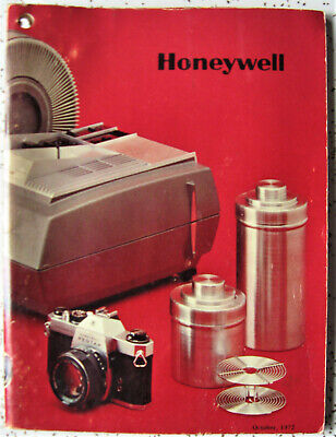 HONEYWELL PHOTOGRAPHIC PRODUCTS Oct 1972 Catalog Price Guide Vintage ILLUSTRATED
