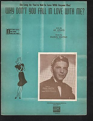 Why Don't You Fall In Love With Me 1942 Frank Sinatra Sheet Music