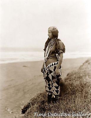 Tolowa Indian Woman, Ada Lopez Richards, California - Historic Photo Print