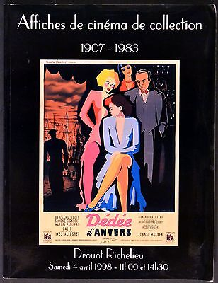 AFFICHES DE CINEMA DE COLLECTION 1998 DEDEE D'ANVERS Signoret AUCTION CATALOGUE