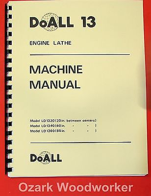 Doallromi 13 Inch Metal Lathe Operating Parts Manual 0278