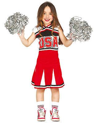 Süsse Cheerleaderin-Kostüm für Mädchen schwarz-rot-weiss - Cod.311012