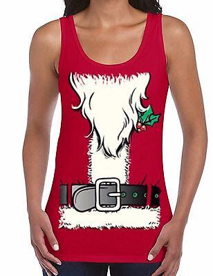 SANTA COSTUME WOMEN TANK TOP Santa Clause Beard Tank Merry Christmas Tank top (Miss Clause Costume)