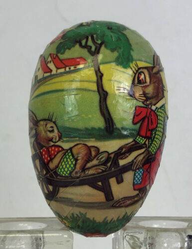 vintage novelty PAPER EASTER EGG BOX