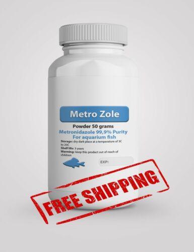 100 Grams 99.9% Pure Metro Zole Powder Aquarium Fish Infection/Parasite Medicine