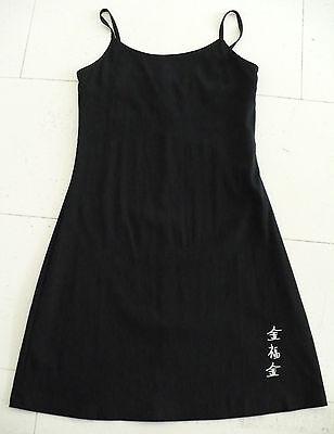 Pimkie Damen Kleid Sommerkleid Minikleid, schwarz mit chines. Zeichen, Größe 38