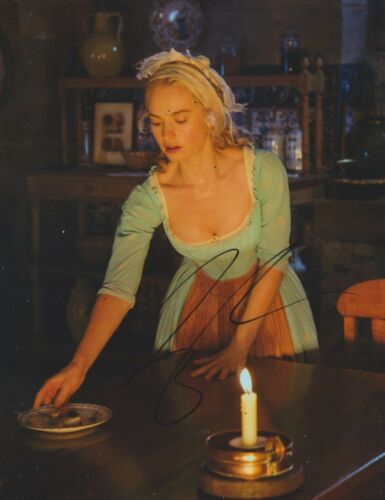 Lily James Signed 10x8 Photo AFTAL