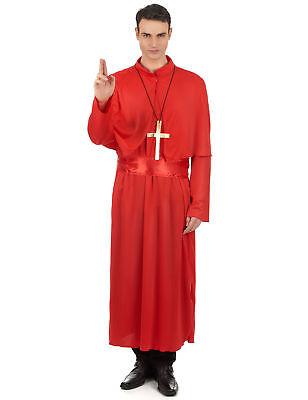 Kardinal Kostüm für Erwachsene - rot - Für Erwachsene Kardinal Kostüm