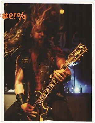 Black Label Society Zakk Wylde Gibson Les Paul Bullseye guitar 8 x 11 pin-up 1b for sale  Shipping to Canada