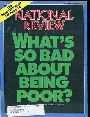 National Review Magazine October 28 1988 Being Poor Vg W Ml 010617Jhe