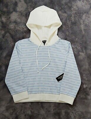 Juicy Couture Hoodie Blue Chill City St Juicy Cities Jacquard Hooded pulover NWT