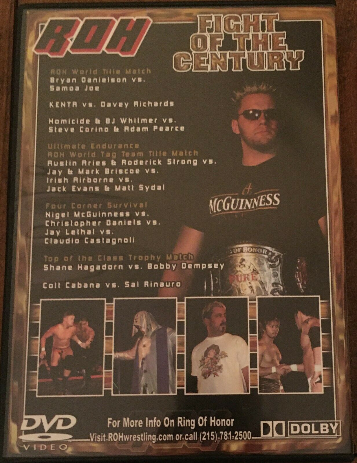 ROH Fight Of The Century 2006 DVD Ring Of Honor WWE AEW NXT TNA PWG ECW WCW - $23.75