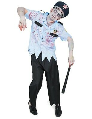 Adult Mens Zombie Police Officer Cop Dress Halloween Costume Outfit - Zombie Cop Kostüm