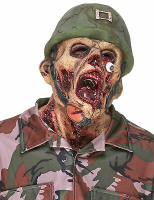Zombie-Soldat Latexmaske Cod.155183 ()