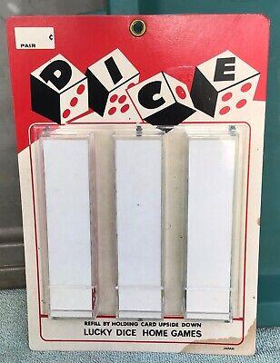 NOS vintage •DICE SALES Penny Arcade COUNTER DISPLAY• old casino gambling craps