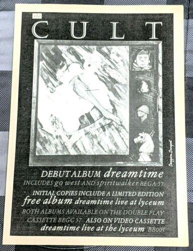 THE CULT / IAN ASTBURY / 1984 DREAMTIME LP / ALBUM MAGAZINE PRINT ADVERTISEMENT