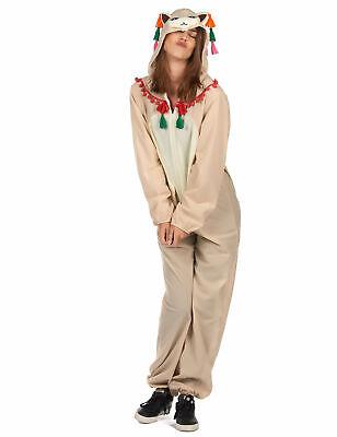 Lustiges Lama-Kostüm für Damen weiss-bunt - Lustige Kostüm Für Damen