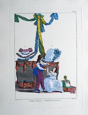 GALERIE DES MODES ET COSTUMES FRANCAIS WATTEAU 1778-1787 EAU FORTE - Modes Et Costumes