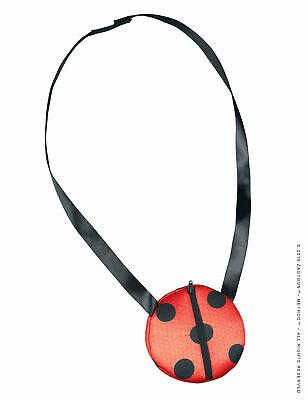 Ladybug-Umhängetasche für Mädchen Lizenz-Zubehör schwarz-rot Cod.320439