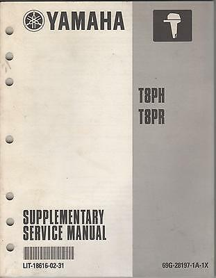 2001 YAMAHA OUTBOARD MOTOR  T8PH/T8PR  SUPPLEMENTARY  SERVICE MANUAL