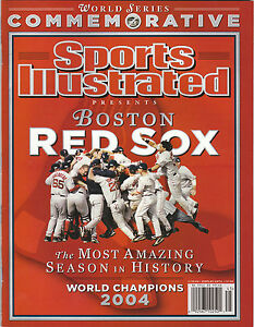 2004 BOSTON RED SOX SPORTS ILLUSTRATED COMMEMORATIVE WORLD SERIES CHAMPIONS SI