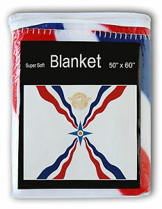 ASSYRIAN-FLAG-FLEECE-BLANKET-NEW-Assyria-Akkadian-Babylonian-Throw-Cover-Bed