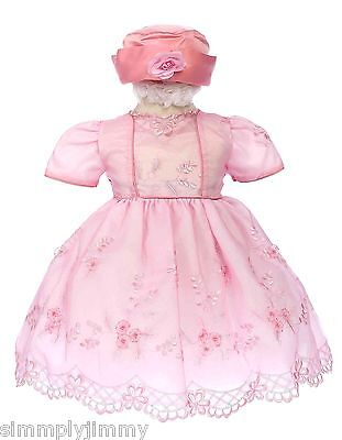 Baby Toddler Infant Girl National Pageant Dress Pink Size Smlxl 0-36 Month