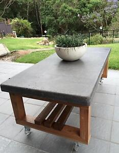 CONCRETE SLAB & TIMBER TABLE (Coffee/ outdoor/ indoor table). Wollongong Wollongong Area Preview