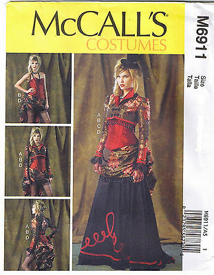 Victorian Steampunk Dress Bolero Corset Skirt Sewing Pattern Size 6 8 10 12 14