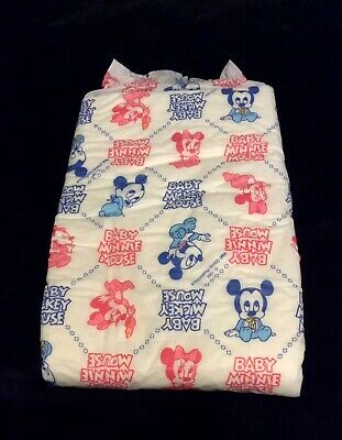 Vintage Huggies Plastic Backed Baby Diaper Size Large From 1984 Walt Disney