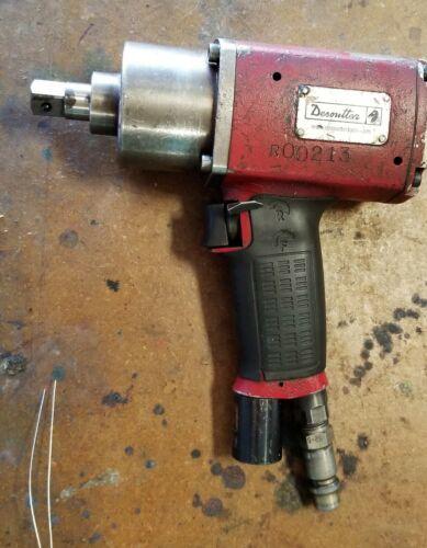 """½"""" Desoutter Pistol Grip Pneumatic Pulse Tool Non-Shut-Off Impact Gun [A3F#44]"""