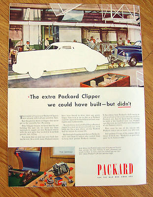 1946 Packard Ad The Extra Packard Clipper