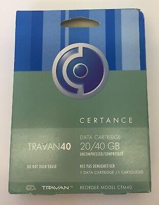 certance cleaning New  3-pack Quantum travan 20gb//40gb tape cartridges CTM40