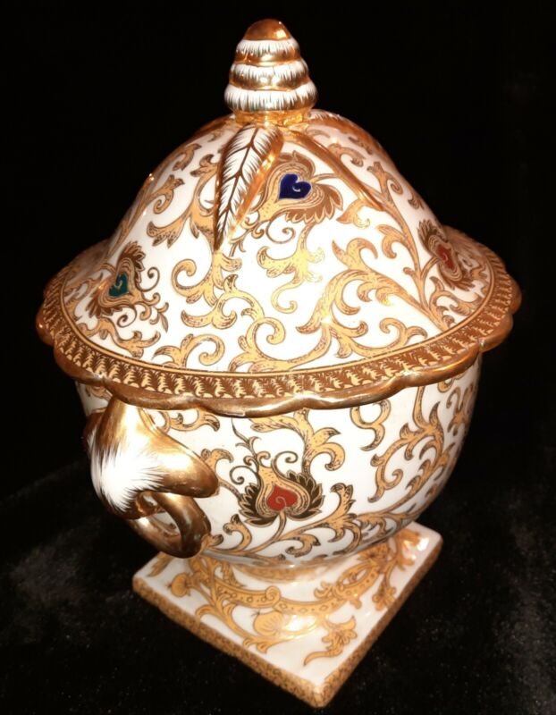 Chinese Republic SOUP TUREEN Gilded Unmarked