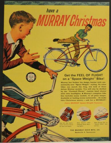 1966 Murray Bicycle Print Ad Space Weight Forward Thrust Twin Lights Space Deck