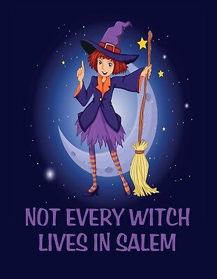 Salem In Halloween ( METAL REFRIGERATOR MAGNET Halloween Not Every Witch Lives In Salem)