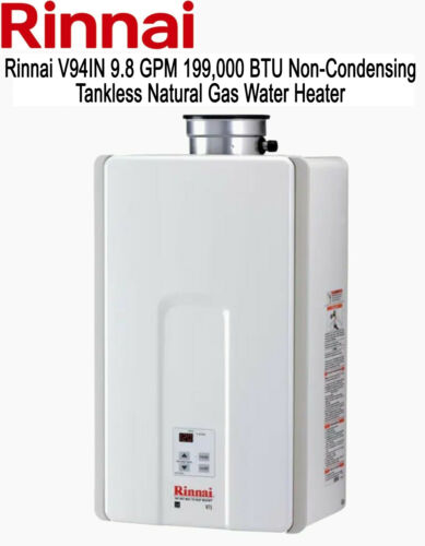 Rinnai V94IN 9.8 GPM 199,000 BTU Non-Condensing Tankless HWH - Natural Gas