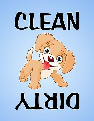 METAL DISHWASHER MAGNET Puppy Dog Kitchen Clean Dirty Dishes
