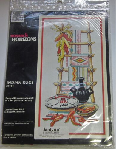 Vintage Monarch Horizons INDIAN RUGS Counted Cross Stitch KIT