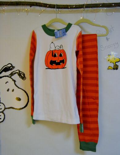 150 size 12 Hanna Andersson Peanuts Snoopy Halloween Pajamas boys girls NWT