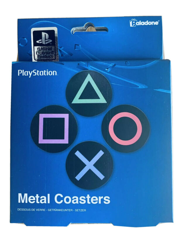 Sony Playstation Metal Drink Coasters Paladone 020459