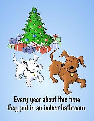METAL FRIDGE MAGNET Christmas Every Year Indoor Bathroom Dog Humor Funny  ()