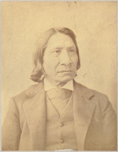 Red Cloud Oglala Chief 1883 Albumen Photograph By Frank A. Bowman Original