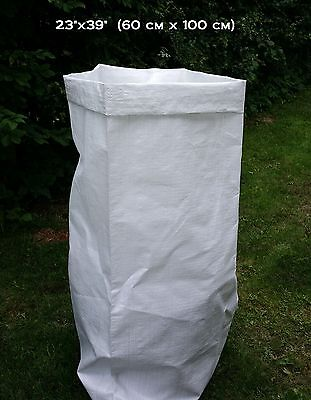 100 WOVEN POLYPROPYLENE BAGS SKIP GARDEN RUBBLE SACKS 23